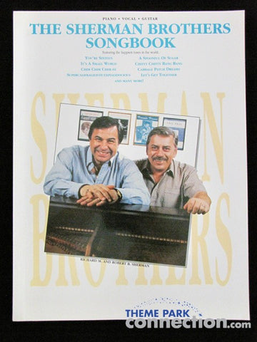 Disney The SHERMAN BROTHERS SONGBOOK Piano Vocal Guitar RARE 34 Song 1991 Book
