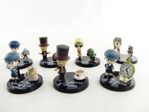 Professor Layton And The Curious Village 7 Miniature Bandai Figure Set
