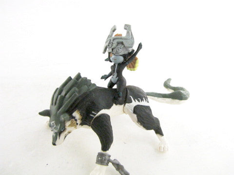 The Legend Of Zelda: Twilight Princess Mindna & Wolf Link Yujin 2007 Nintendo Toy Figure