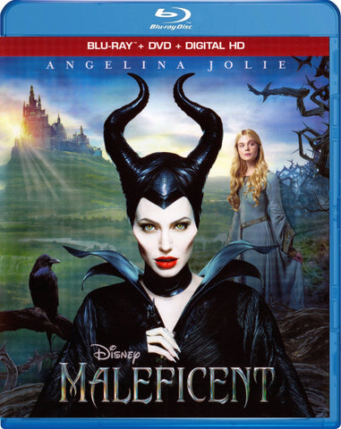 Disney MALEFICENT Angelina Jolie Elle Fanning 2014 Movie Blu-ray DVD Digital HD Set