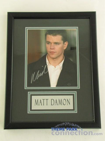"MATT DAMON SIGNED Original Autograph 18"" By 14"" Framed Photo Photograph Display"