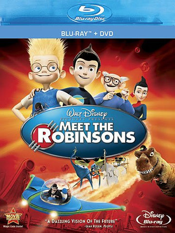 Disney MEET THE ROBINSONS 2007 Movie Blu-ray + DVD Combo Pack 2 Disc Set