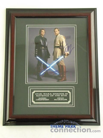 STAR WARS III EWAN MCGREGOR HAYDEN CHRISTENSEN SIGNED Original Autograph Framed Photo