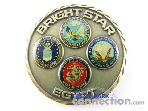 TRIPLE 9 CASEY AFFLECK US Military BRIGHT STAR EGYPT Award Challenge Coin Original Movie Prop