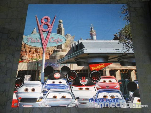 Disney Cars Land Grand Opening 2012 California Adventure Disneyland Banner Prop