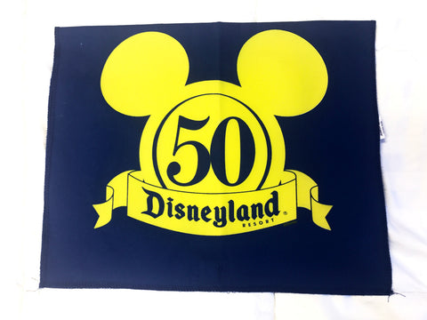 Disneyland 50th Anniversary Authentic Vinyl Rope Sign Prop