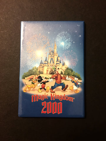 Disney Parks 2000 Magic Kingdom Mickey & Friends Magnet