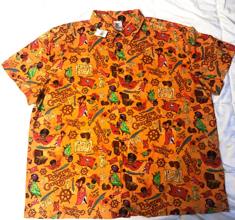 Disney Rare Pirates of the Caribbean D23 Expo Button Down WDI Shirt
