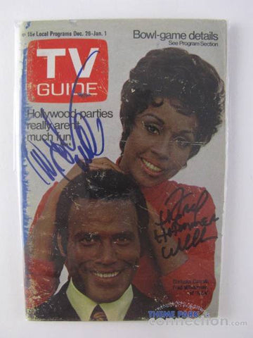 "Diahana Carroll & Fred Williamson Autographed 1970 ""Julia"" TV Guide Issue"