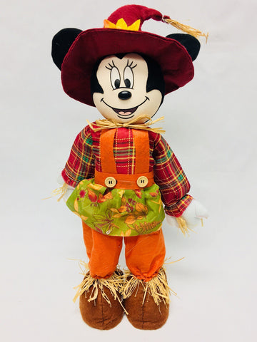 Walt Disney Retired Minnie Mouse Scarecrow Lawn Ornament