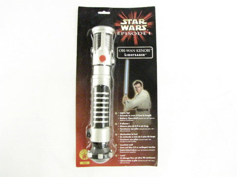 Star Wars Episode I: The Phantom Menace Obi-Wan Kenobi Cosplay Costume Lightsaber Toy
