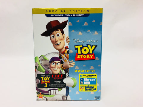 Disney Pixar Toy Story Special Edition 2 Disc Blu-Ray & DVD Movie Set