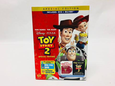Disney Pixar Toy Story 2 Special Edition 2 Disc Blu-Ray & DVD Movie Set