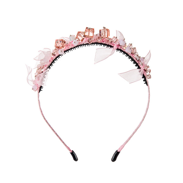Beaded Wreath//Pink