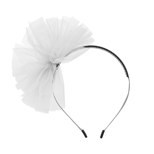 Tulle Whimsy Hairband//Silver