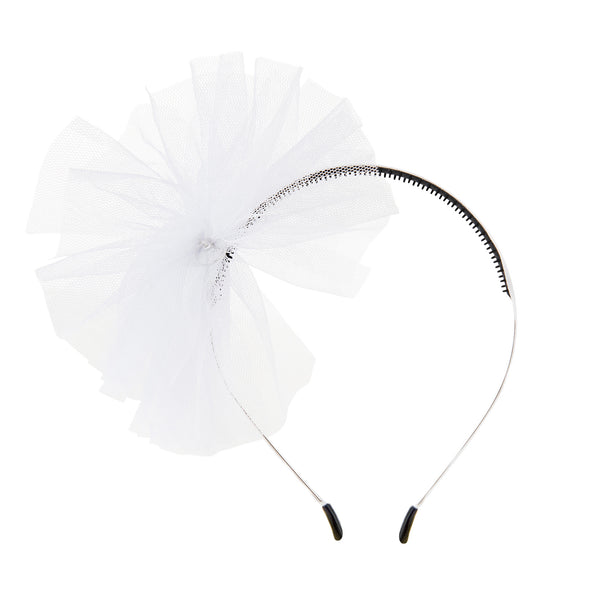 Tulle Whimsy Hairband//White
