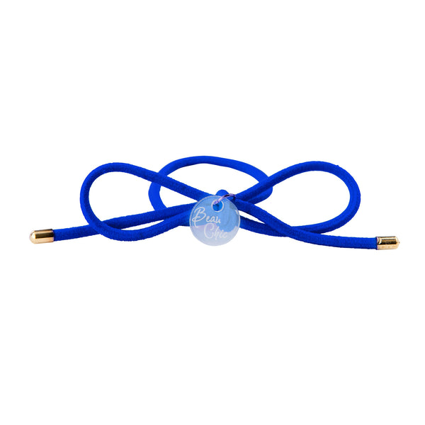 Bow Elastic Hair Tie//Royal Blue