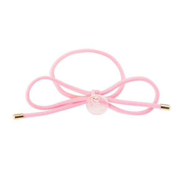 Bow Elastic Hair Tie//Blush Pink