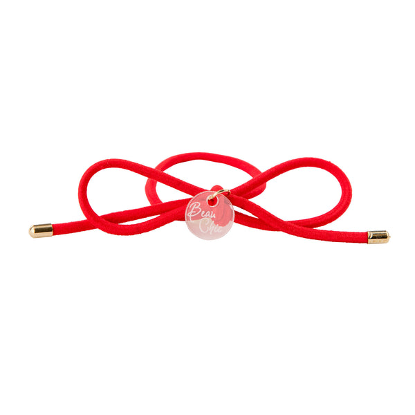 Bow Elastic Hair Tie//Red