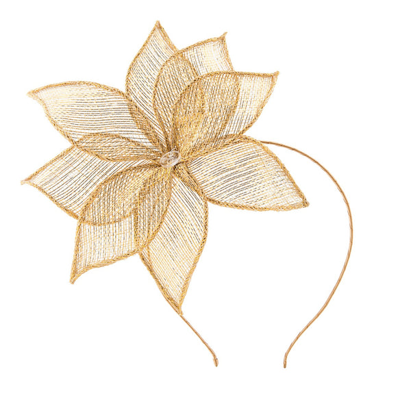 The Sinamay Lily//Metallic Gold