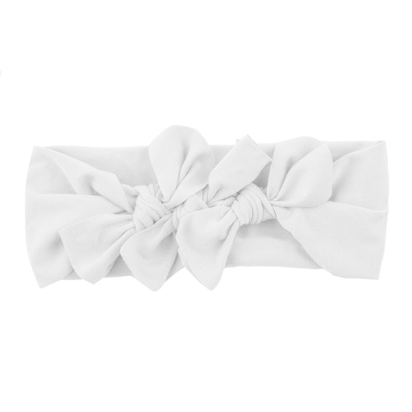 Bow Cluster Headwrap//White
