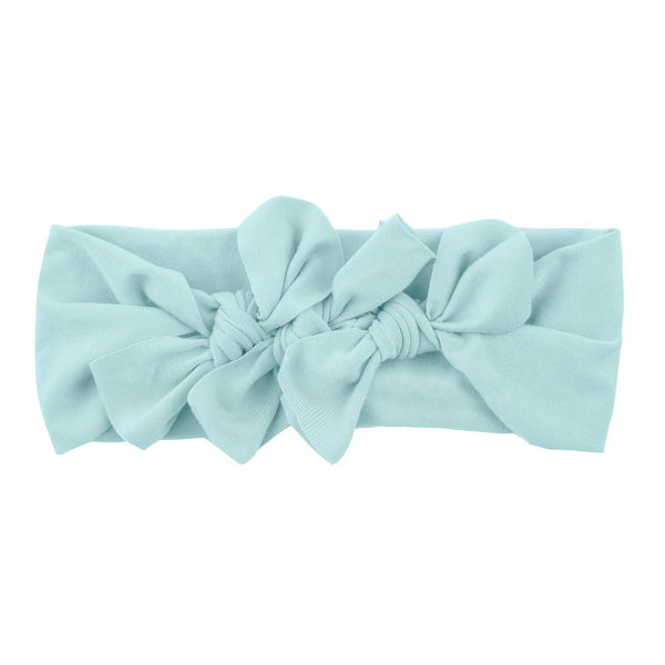 Bow Cluster Headwrap//Soft Teal