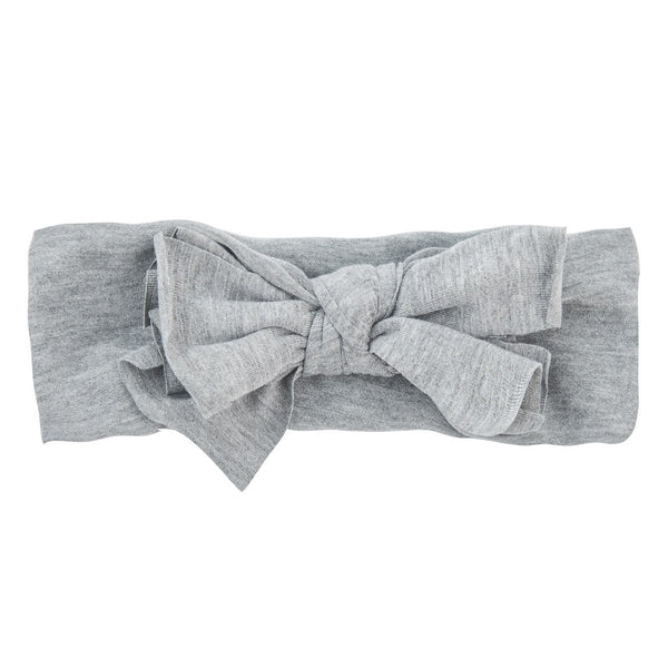 Bow Headwrap//Light Heather Grey