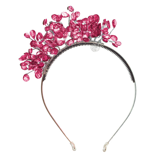 The Tiara Hairband//Hot Pink