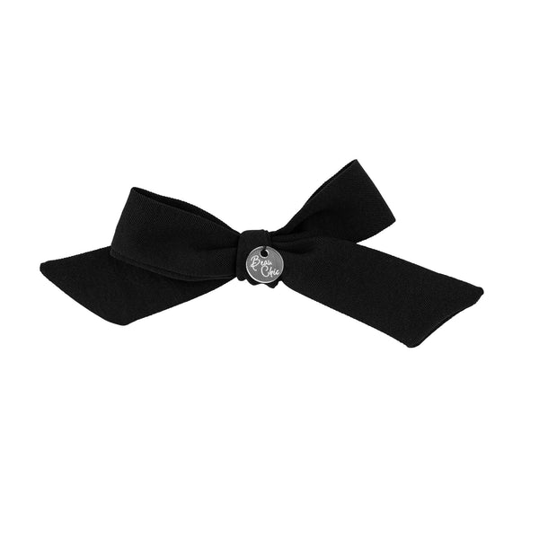 Tied Bow Clip//Black