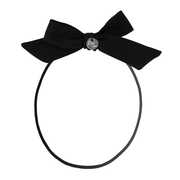 Tied Bow Baby Band//Black