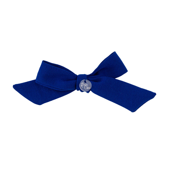 Tied Bow Clip//Royal Blue