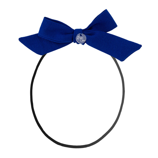 Tied Bow Baby Band//Royal Blue