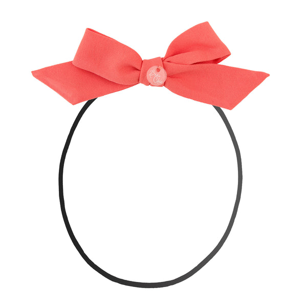 Tied Bow Baby Band//Coral