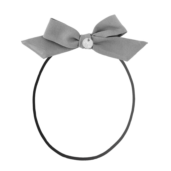 Tied Bow Baby Band//Grey