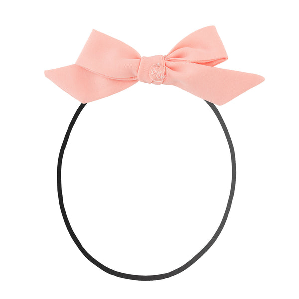 Tied Bow Baby Band//Peach