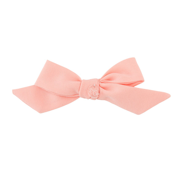 Tied Bow Clip//Peach