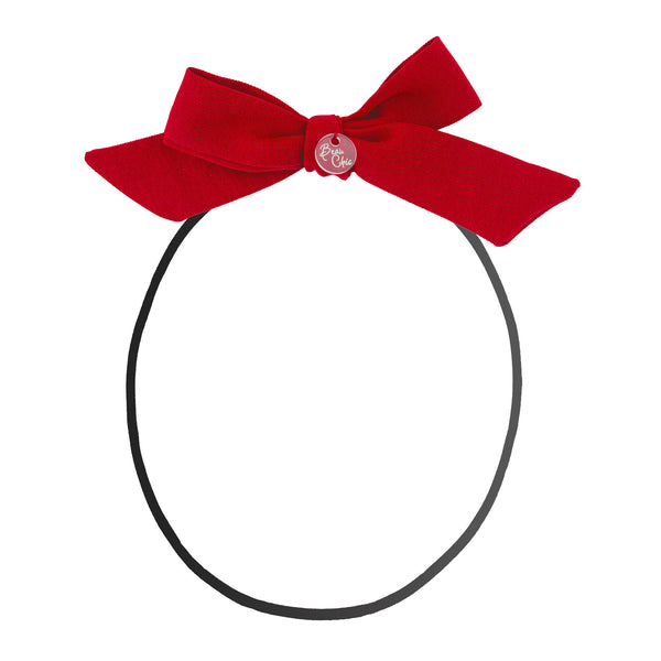Tied Bow Baby Band//Red