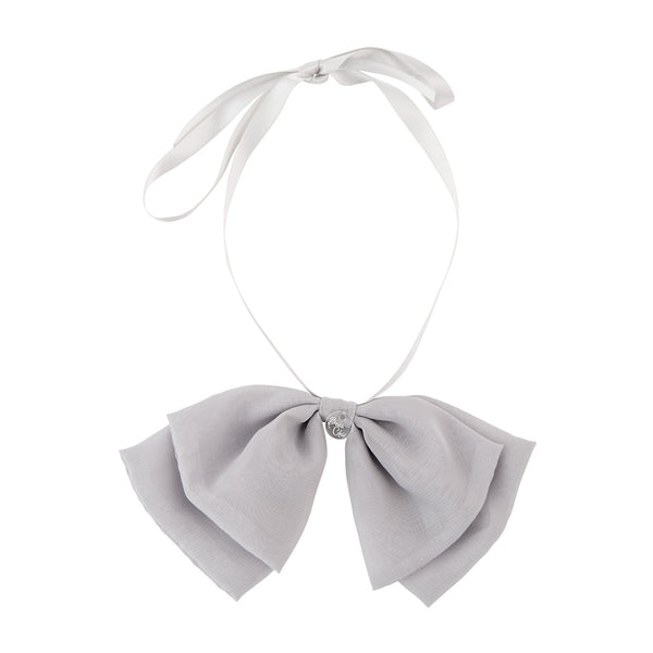 Katie Bow Collar//Grey