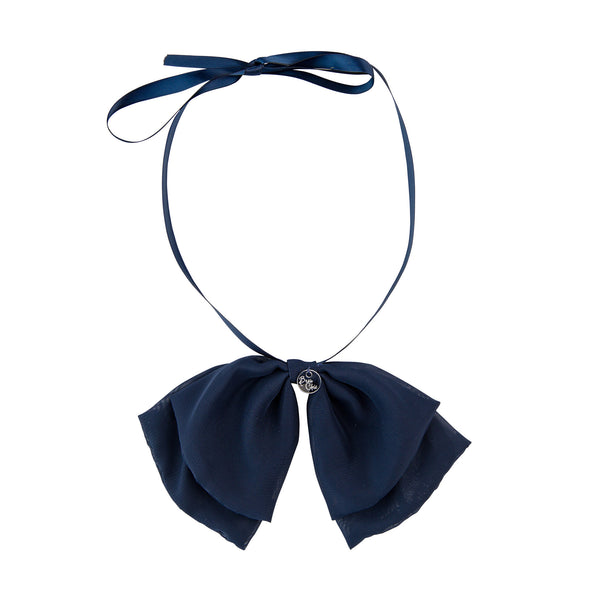 Katie Bow Collar//Navy