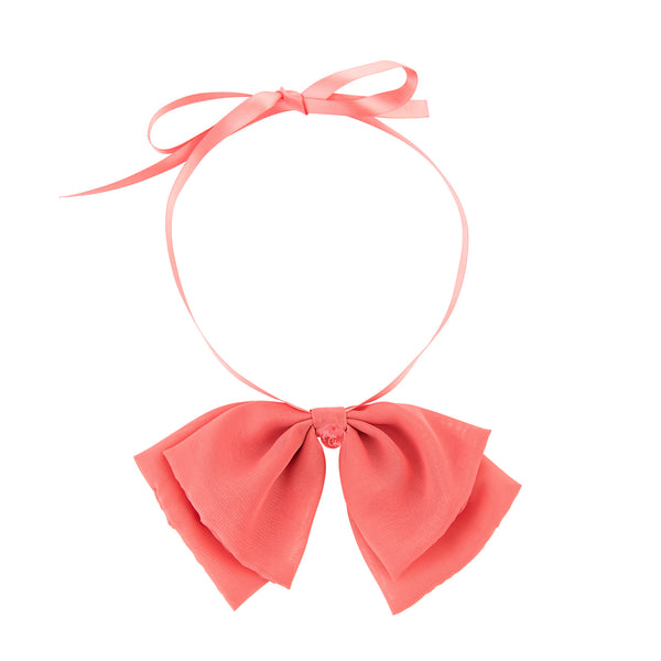 Katie Bow Collar//Coral