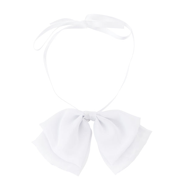 Katie Bow Collar//White