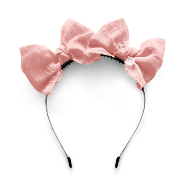 Double Bow Headband//Blush Pink