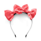 Double Bow Headband//Salmon