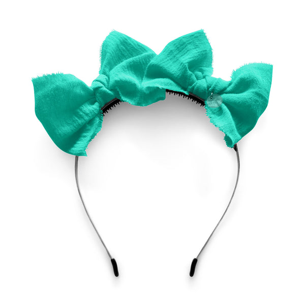 Double Bow Headband//Jade