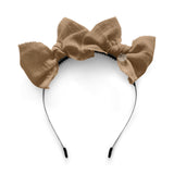 Double Bow Headband//Latte