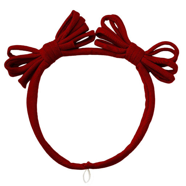 Jersey Loopy Bows Headwrap//Ruby