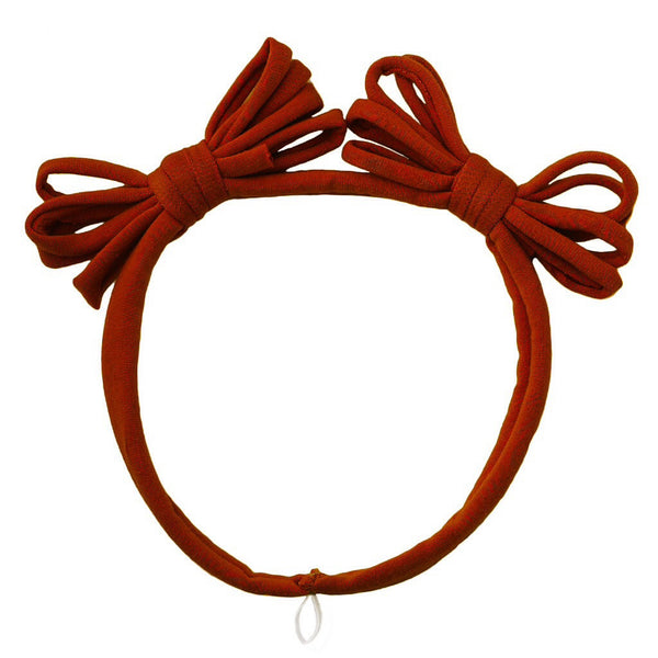 Jersey Loopy Bows Headwrap//Rust
