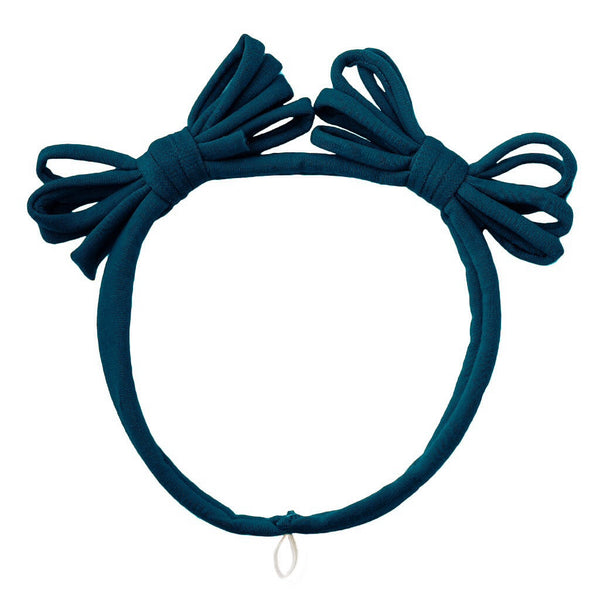 Jersey Loopy Bows Headwrap//Teal