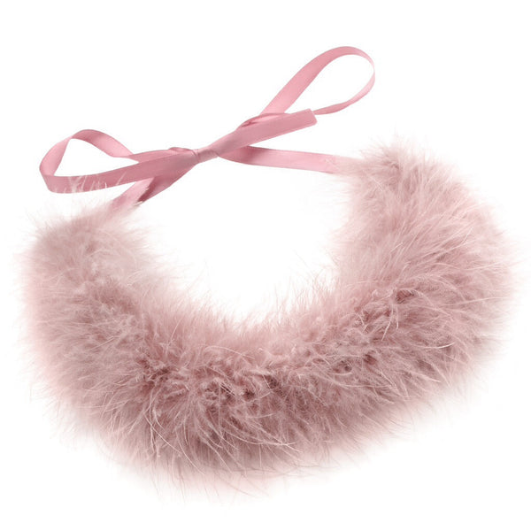 Feather Wreath-Collar//Mauve