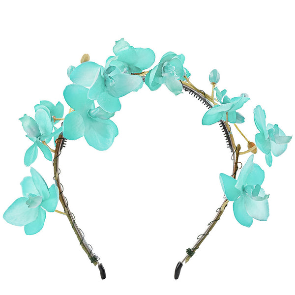Orchid Headband//Blue Mint